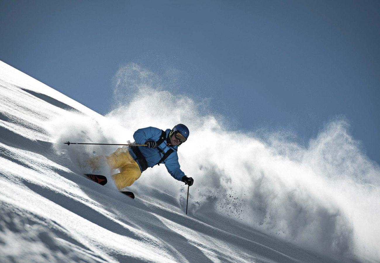 Skifahren in der Schlick