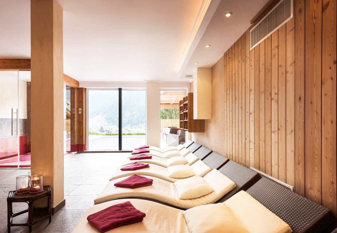 Wellnessbereich im Hotel Erika, dem LifeStyle Hotel Neustift
