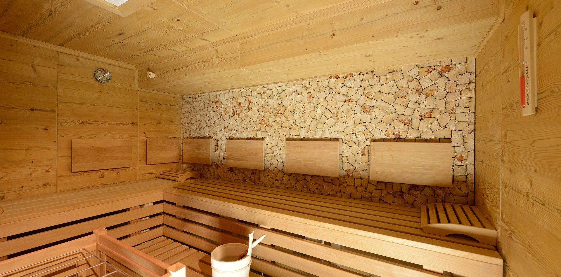 Sauna im Hotel im Stubaital
