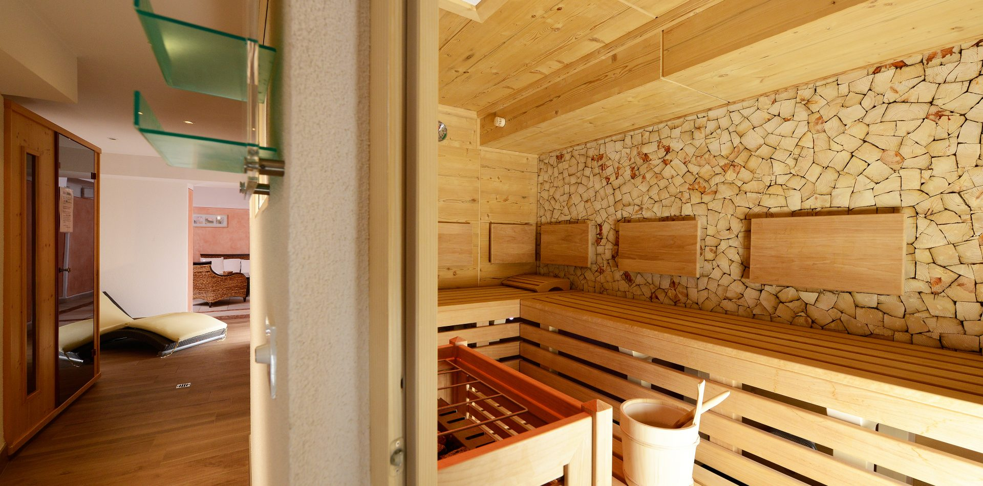 Sauna im ERIKA, dem LifeStyle Hotel Neustift