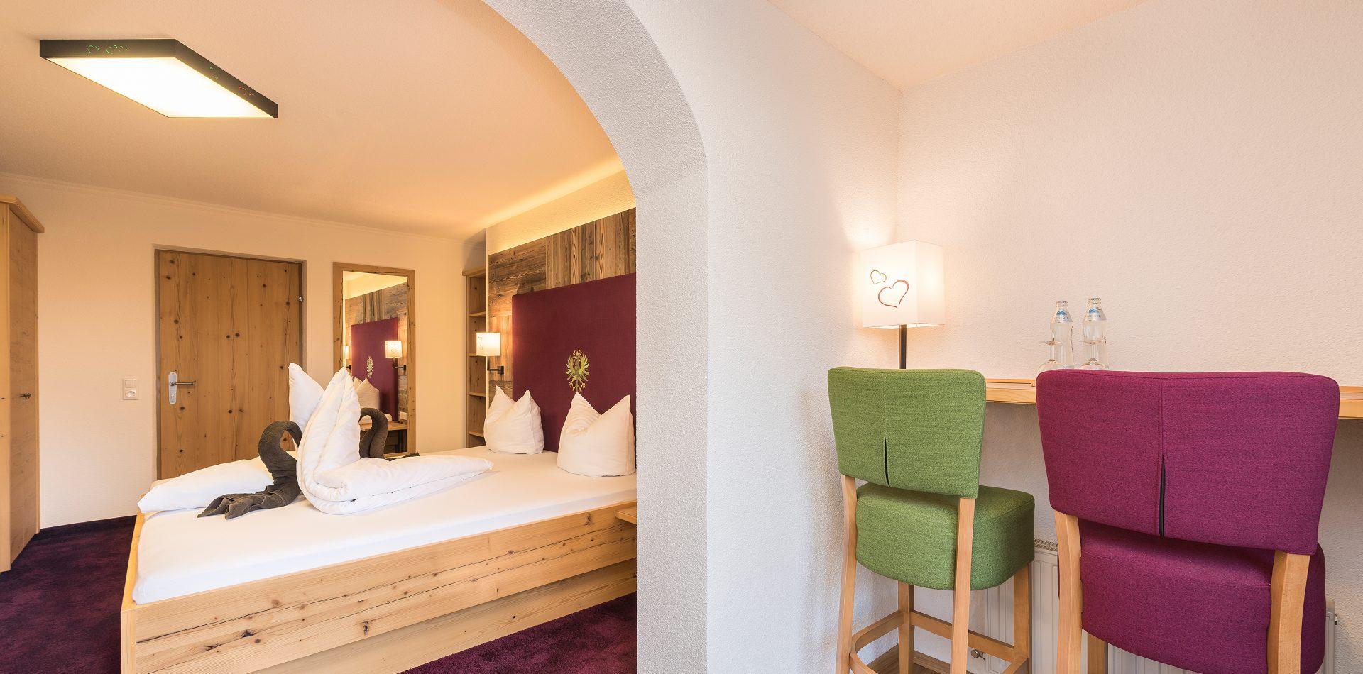 Doppelzimmer im ERIKA, dem LifeStyle Hotel Neustift