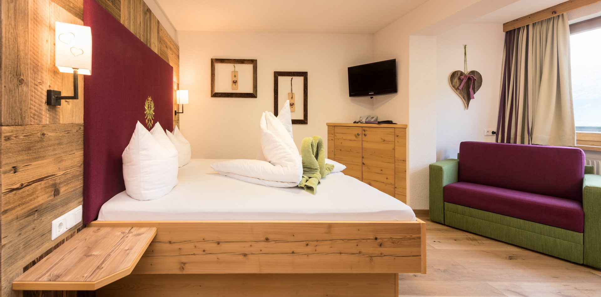 Zimmer im Hotel Erika im Stubaital