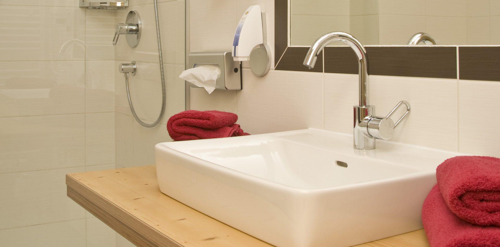 Badezimmer Hotel im Stubaital