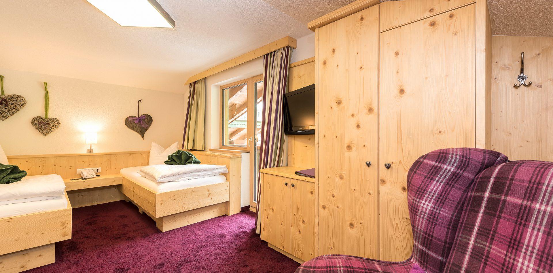 Zwei Einzelbetten oder Zweibett-Zimmer in der Natur-Kuschelkammer Juchee