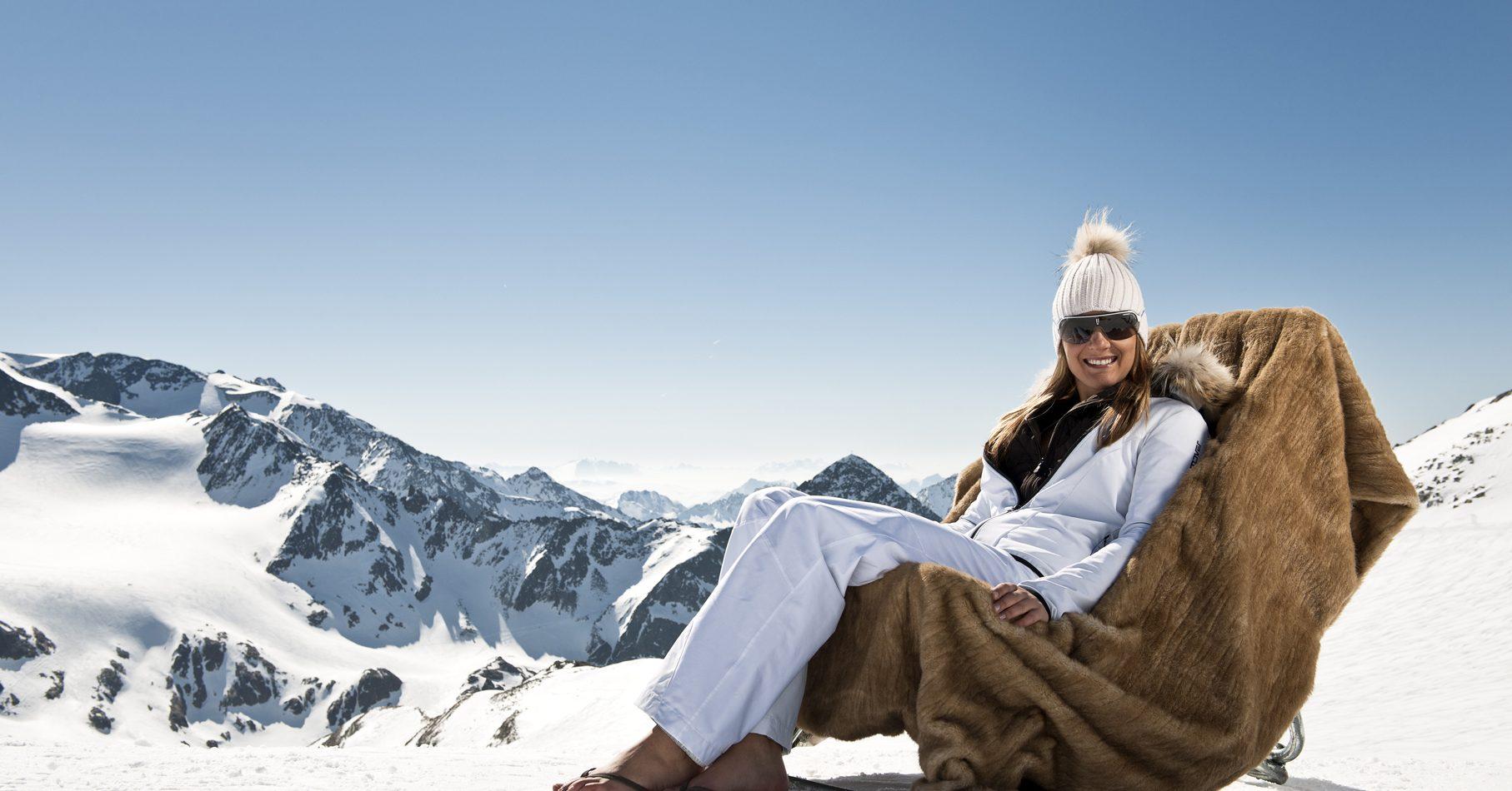 Am Stubaier Gletscher entspannen