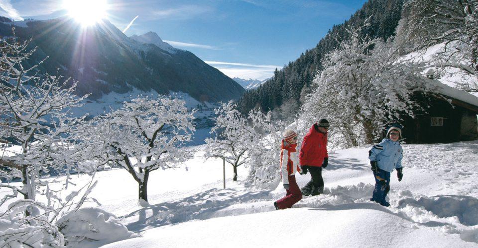 Stubaital im Winter beim ERIKA, dem LifeStyle Hotel Neustift