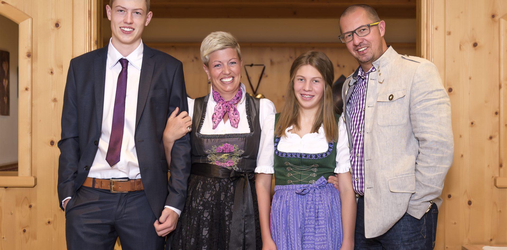 Familie Müller im Hotel Erika im Stubaital