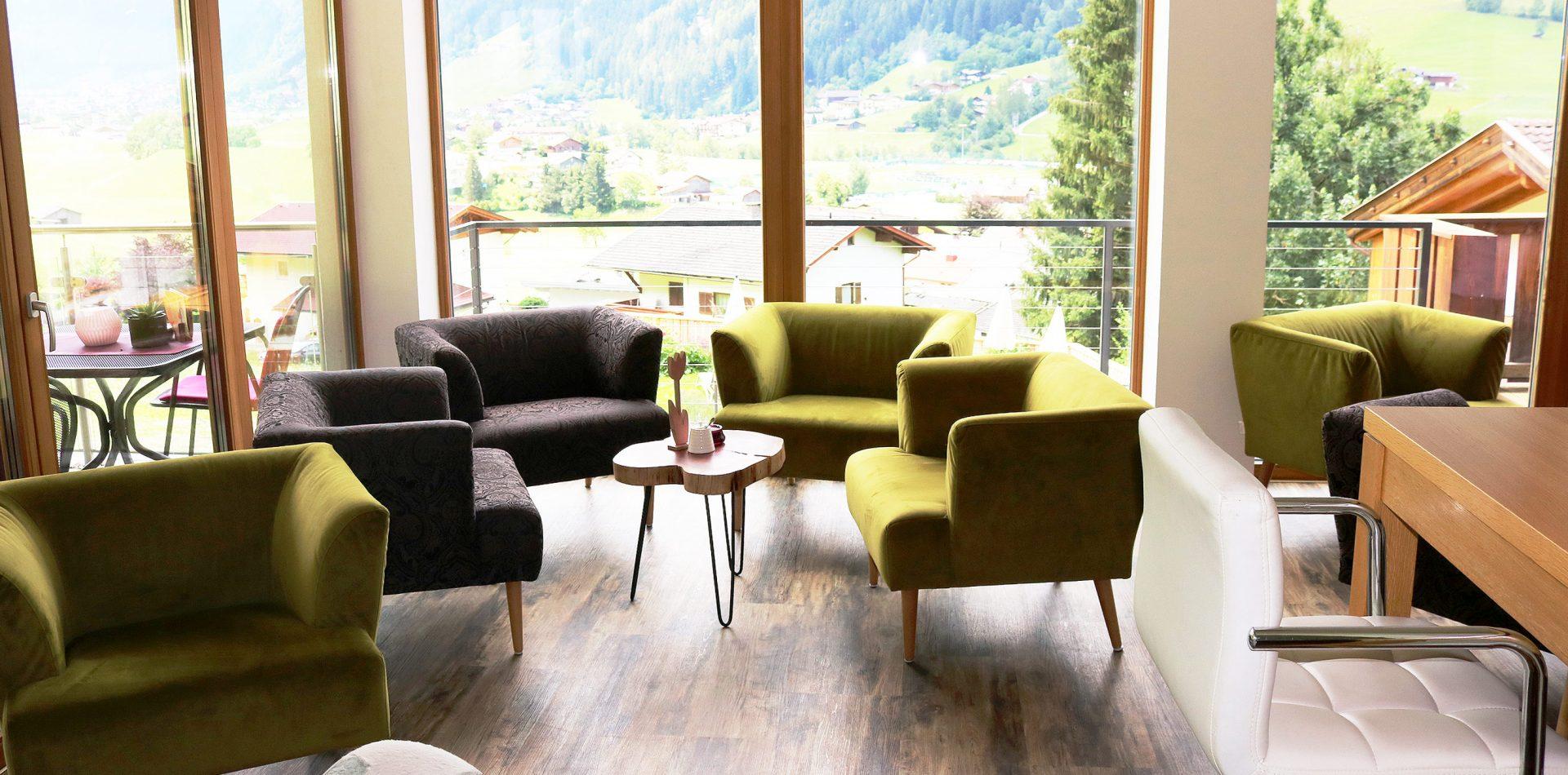 Loungebereich Hotel Erika in Neustift