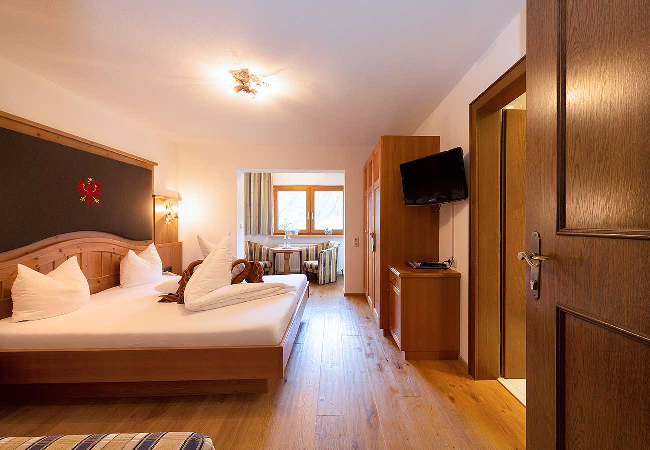 Zimmer Talblick im Hotel Erika Stubaital