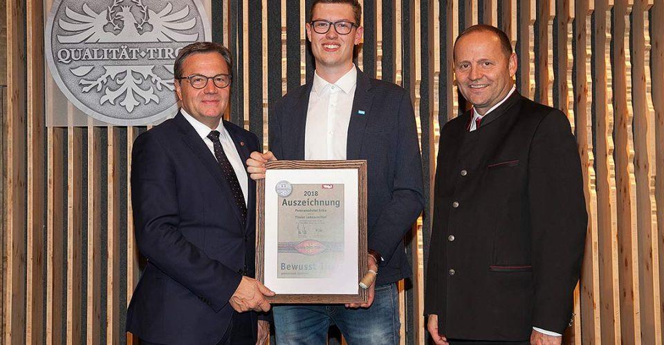 Auszeichnung Bewusst Tirol Sebastian Müller